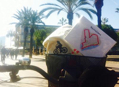 Cykla en hjärtformad rutt i Barcelona.