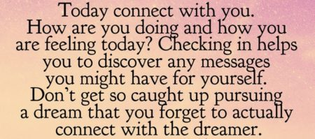 """""""Don't forget to connect with the dreamer"""""""